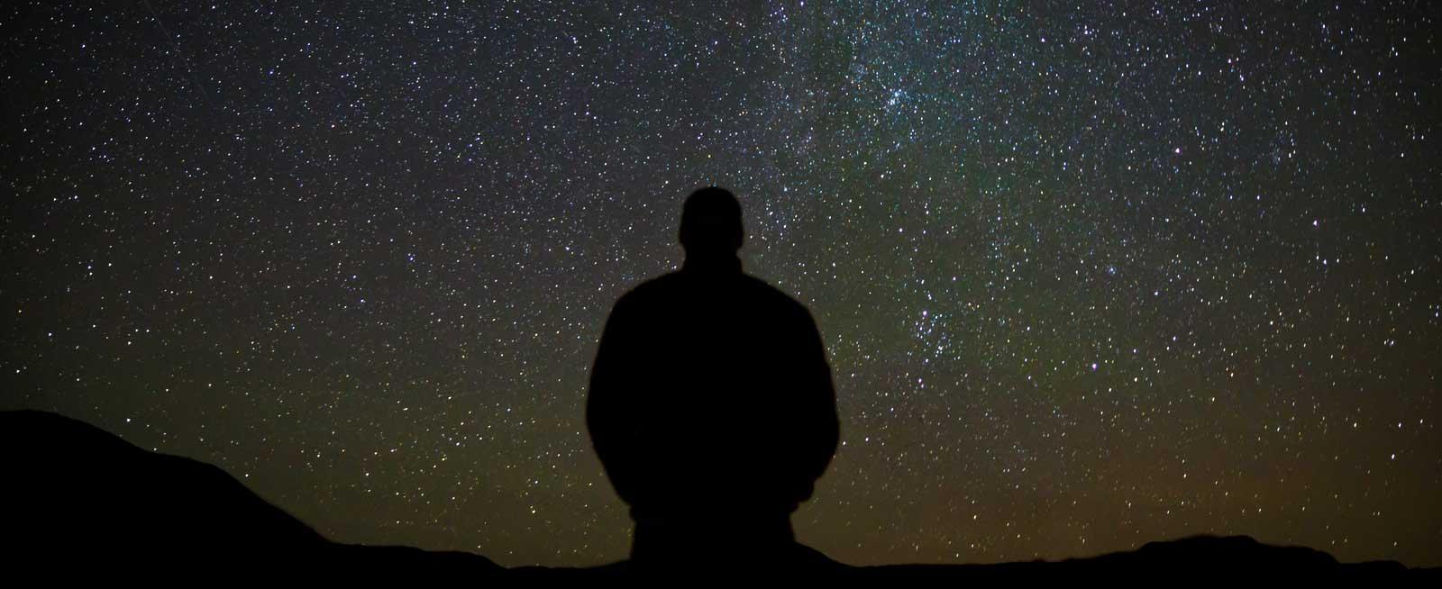 Image result for man under stars